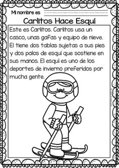 Easy Reading for Reading Comprehension in Spanish - SE - Winter Sports