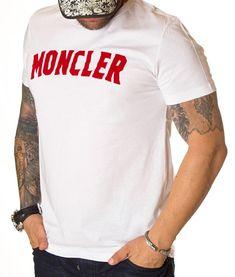 Moncler Tricou Short Sleeve - Alb   Tricouri cu guler rotund   Tricouri   Brande Moncler, Model, Mens Tops, T Shirt, Fashion, Supreme T Shirt, Moda, Tee Shirt