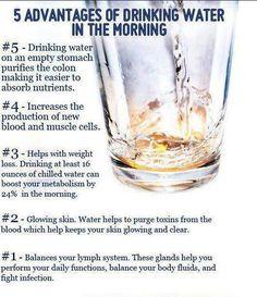 waarom water drinken in morgen