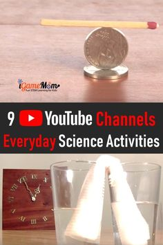 Science video YouTube channels with guide to everyday science experiments you can do at home. Great for science class, science club, homeschool science resource Science Experiments Videos, Science Activities For Kids, Science Fair Projects, Science Resources, Teaching Science, Learning Resources, Steam Activities, Teaching Tips, Kids Math