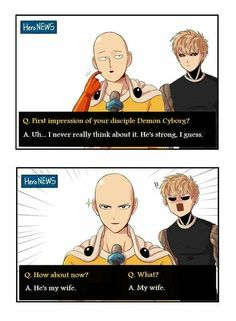 Yaoi pictures mostly fluff (no more request) # Fanfic # amreading # books # wattpad One Punch Man 3, One Punch Man Funny, Saitama One Punch Man, One Punch Man Anime, Anime One, Saitama Sensei, Genos X Saitama, One Punch Man Episodes, Funny Memes
