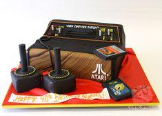 Atari 2600 Nerd Birthday Cake