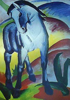 Caballo azul I. FRANZ MARC