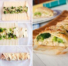 Ciasto francuskie z brokułami