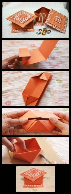 Decorative Origami Box – Happiness is Crafting!