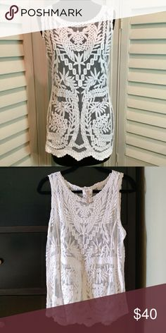 c8e02ac11a Free People Eyelet Loose Cover Up Boho Top - NWT Free People Women's Eyelet  Batwing Sleeves Loose Cover Up Boho Top • Size: M • Mea…