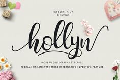 Hollyn + Extras  by vanroem on @creativemarket. Price $16 #scriptfonts #handwrittenfonts
