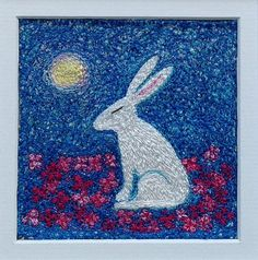 Hare & Moon In The Night Scented Garden  by ImagineNorth on Etsy