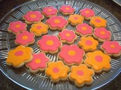 Luau cookies - these don't look too hard to decorate.