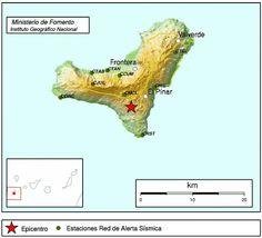 Un nuevo terremoto sentido en El Hierro, en el municipio de El Pinar      Epicentro del terremoto ...