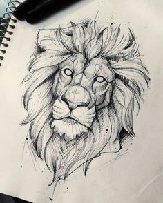 Lion Drawing Sketch Tattoo - Again a really beatiful lion tattoo sketch lion sketch tattoo by quidames on deviantart. How to draw cartoons instructor shows you how to draw a tatto. Lion Drawing, Pencil Sketch Drawing, Drawing Base, Drawing Ideas, Drawing Tips, Pencil Drawings, Sketch Ink, Tattoo Sketches, Tattoo Drawings