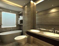 Small Bathroom Design Rendering, Luxurious European Toilet Design