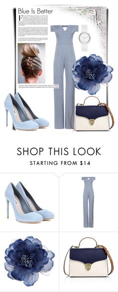 """""""Blue <3"""" by aussie-styler-chick ❤ liked on Polyvore featuring Miu Miu, Galvan, Accessorize, Aspinal of London and DKNY"""