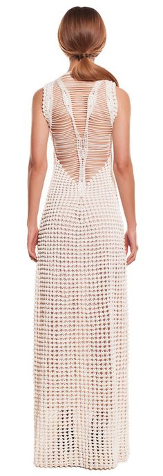 Helen Rödel long white crochet dress