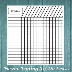 Grade Book - INSTANT DOWNLOAD - Back To School Classroom Grades ...