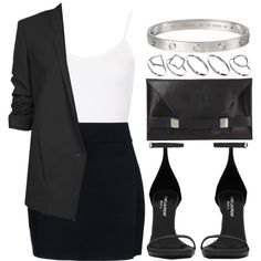 Style #4056 by vany-alvarado on Polyvore featuring polyvore, fashion, style, Topshop, Helmut Lang, A.L.C., Yves Saint Laurent, Unique and ASOS
