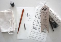 Calligraphy Starter Kit. $35.00, via Etsy.