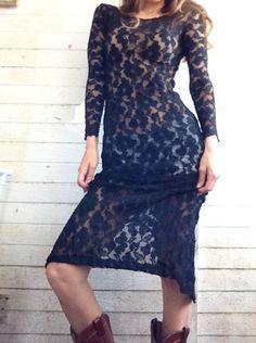 Vintage LACE cut out dress