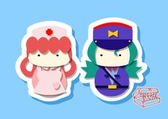 Joy and Jenny Inspired - PostCard Print Kawaii Chibi Creative Kokeshi Kokeshi is a japanese doll that was originally made of wood, with a round head and a cylindrical body. Creative Kokeshi are following the more kawaii