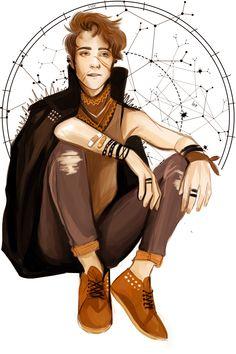 Harry Potter fanart: Punk Marauders Remus Lupin by dasstark.tumblr.com