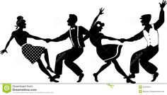 Lindy Hop Party Stock Vector - Image: 55525911