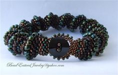 Earthy Cellini Spiral Bracelet - Beading Daily