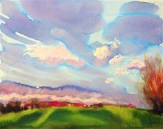 Distant Fucsia by Gretchen Kelly, New York Artist, painting by artist Gretchen Kelly