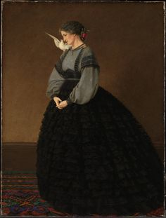 Lady with a Dove: Madame Loeser: 1864 by John Edward Brett (The Tate, London, UK) - Pre-Raphaelite
