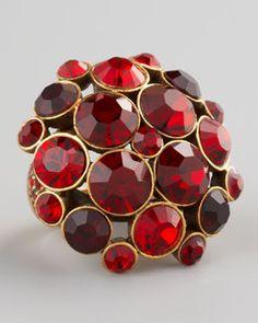 Oscar de la Renta Crystal Cluster Ring