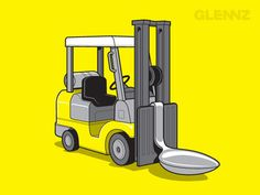 Not a forklift... maybe a Spoonlift?