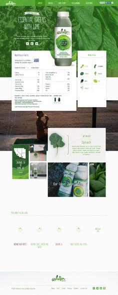 evolution juices webdesign