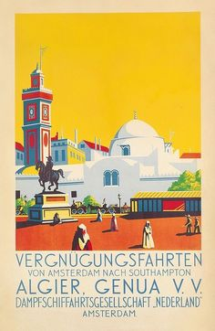 Affiche Algérie - Croisière Amsterdam Alger