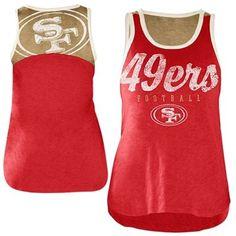 5d81b8561 San Francisco 49ers Ladies National Title Tank Top - Scarlet Gold