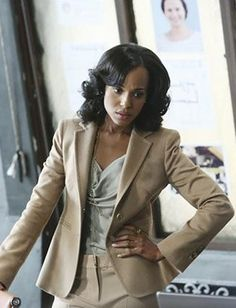 """Lyn Paolo, """"In many respects the color palette of the show symbolizes different things at different times, but the initial decision was made on the pilot to dress Olivia in white because Shonda Rhimes referred to the OP team as being Gladiators in suits. This resonated with me and I felt it would be appropriate and magical to have a leading lady wear white on a television show."""""""
