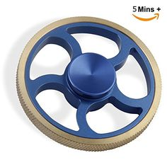 Cheap price Elongdi Fidget Spinner Hand Spinner Brass Aluminum Help Focus Durable Finger Spinner Toy Perfect for Spend Time Relieves Anxiety Fidget EDC ADHD Autism Lessen Boredom High Speed Up to 5mins (Blue) on sale