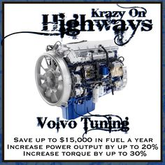 Krazy On Highways is proud to announce that it is the FIRST tuning company to offer DPF Deletes for all VOLVO heavy trucks from 2007 to 2012.