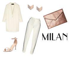 """Milan"" by ninelgm on Polyvore featuring moda, Donna Karan, Elie Saab, Verali, FOSSIL y Rebecca Minkoff"