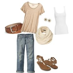 A fashion look from February 2012 featuring crew neck t shirt, ribbed tank tops and ripped boyfriend jeans. Browse and shop related looks. Ripped Boyfriend Jeans, Spring Wear, Neck T Shirt, Super Easy, Fashion Looks, Tank Tops, My Style, Casual, How To Wear