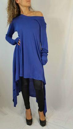 Asymmetrical Sweater Top / Long Sleeve Sweater by MDSewingAtelier
