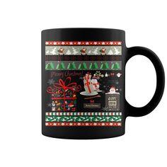 Happy Merry Christmas Coffee Mug Gift With Xmas Tree Santa Gift And Ugly Design Beer Mug