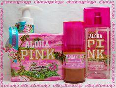 Victoria's Secret ALOHA PINK ♥ VIBRANT & BEACHY ♥ mist lotion bronzer SET OF 3