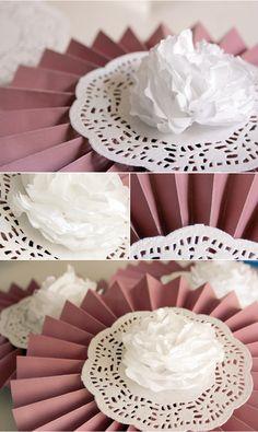 rosetas em papel