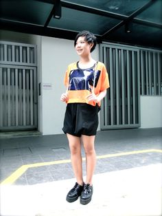 People who W.E.D. ('Wear Emerging Designers')    #12. Morgan     What are you wearing: MAE PANG top and DEPRESSION foldable pants     http://www.facebook.com/BlueprintSingapore/app_134506053246185