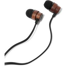 Woodbuds Black In-Ear Headphones ($46) ❤ liked on Polyvore featuring accessories, tech accessories and black headphones