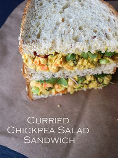 Curried Chickpea Salad Sandwich - The Simple Veganista