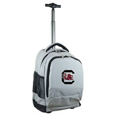 NCAA South Carolina Gamecocks Grey Premium Wheeled Backpack