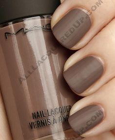 MAC matte fingernail polish!! There're several shades of this that I really really like.