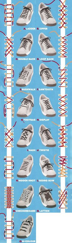 15 Creative Ways to Tie Your Sneakers | iCreativeIdeas.com LIKE Us on Facebook ==> https://www.facebook.com/icreativeideas