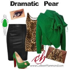 Dramatic Pear 2 by colleen-hammond on Polyvore featuring BKE, Marques'Almeida and Christian Louboutin