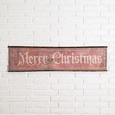 """Merry Christmas"" Mantel Scroll - Magnolia Market 